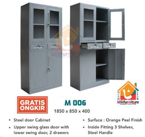 Lemari Arsip Filing Cabinet Besi 4 Pintu 2 Laci