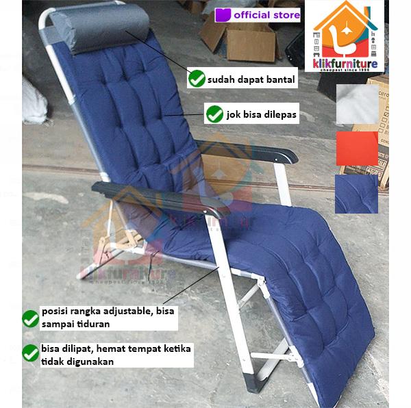 Kursi Santai Lipat Zero Gravity Chair Kursi Malas 180