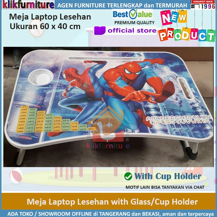 Meja Laptop Meja Lesehan Meja Lipat Anak Motif SPIDERMAN