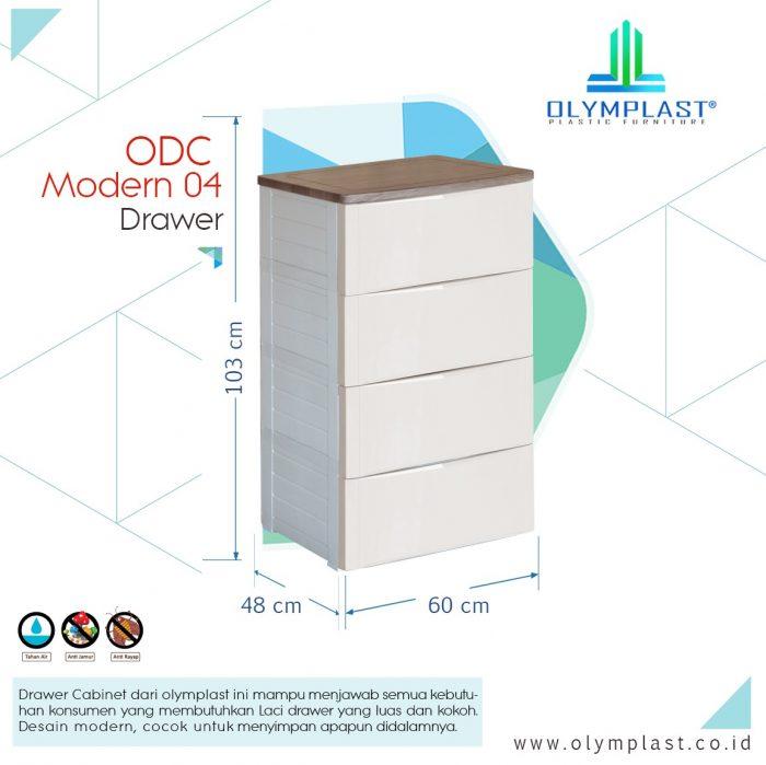 Lemari Plastik Olymplast ODC 04 M Modern 4 Laci