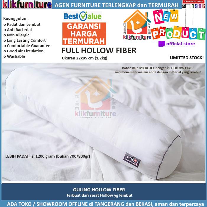 Guling Bolster Hollow Fiber Silikon Premium Klikfurniture