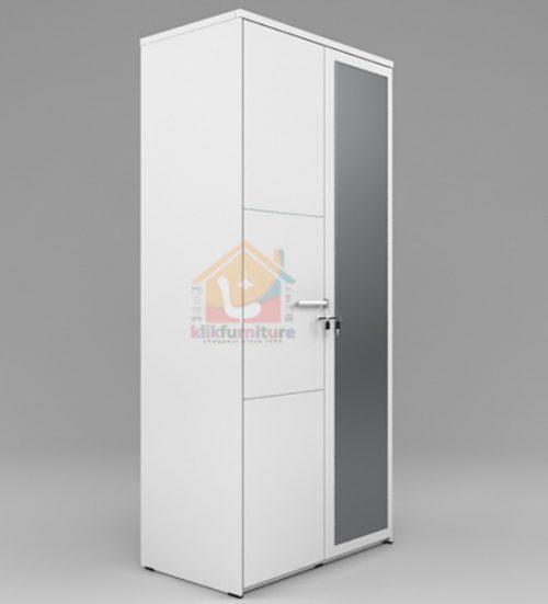 Lemari Pakaian Premium Putih Minimalis 2 pintu