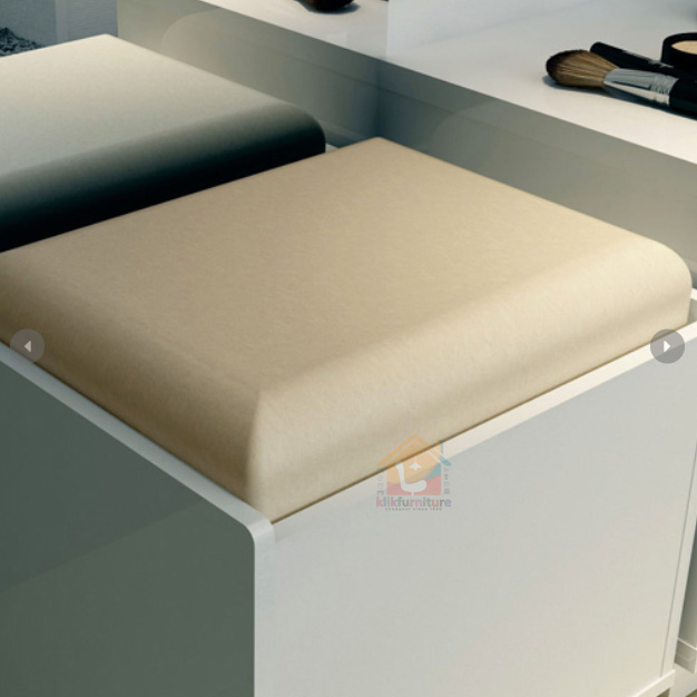 kursi meja rias minimalis putih