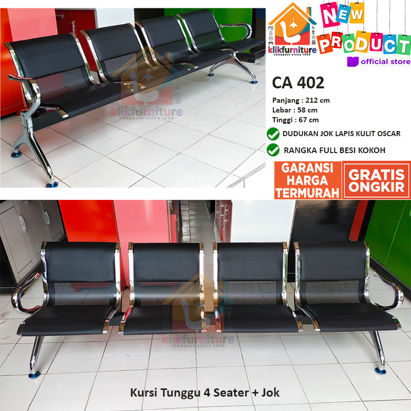 Kursi Tunggu Kursi Bandara Kursi Terminal 4 Dudukan Seater Jok CA 402