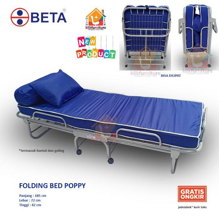 Ranjang Lipat Folding Bed Ranjang Pasien Rumah Sakit Kos Apartemen POPPY