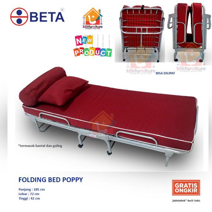 ranjang besi lipat folding bed besi