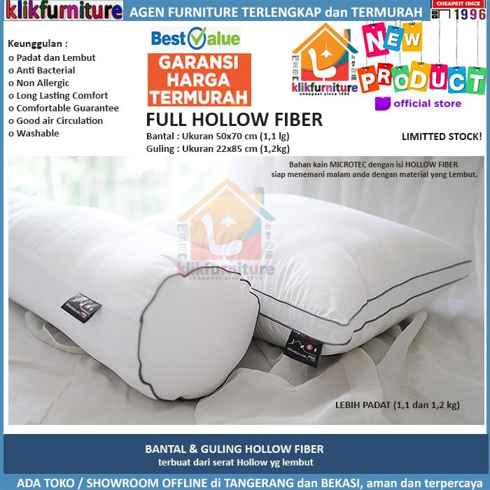 Set Bantal Guling Tidur Hotel Pillow Bolster Fiber Hollow Premium
