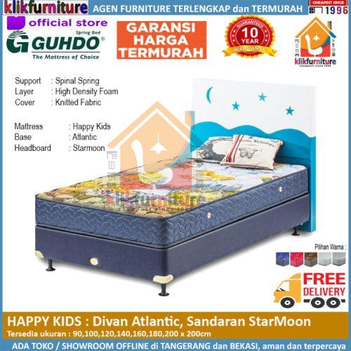 Happy Kids Divan Atlantic Headboard Starmoon Guhdo Springbed
