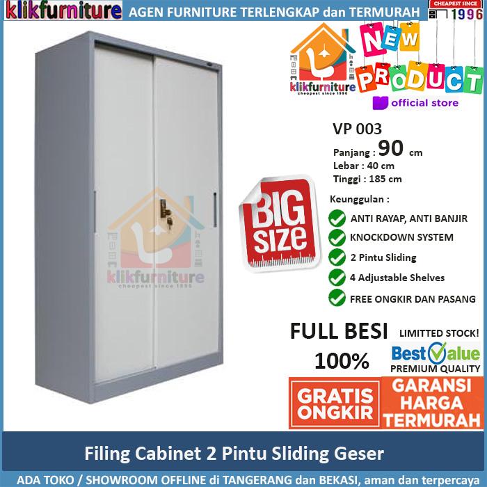 Lemari Arsip Besi Filing Cabinet Besi Sliding Geser VP 003 90cm