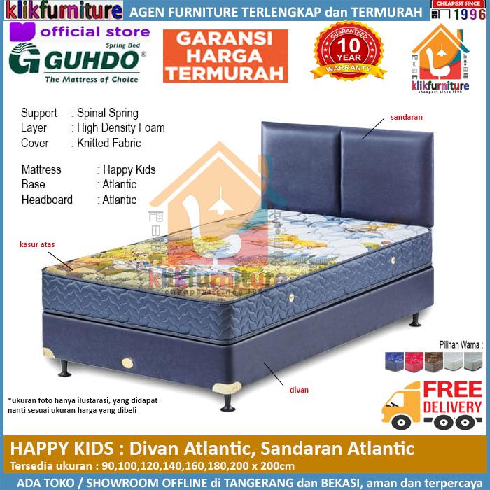Happy Kids Divan Atlantic Headboard Atlantic Guhdo Springbed