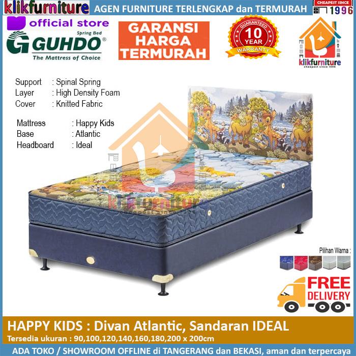 Happy Kids Divan Atlantic Headboard IDEAL Guhdo Springbed