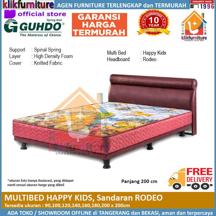 Multibed Happy Kids 2m Sandaran Rodeo Guhdo Springbed