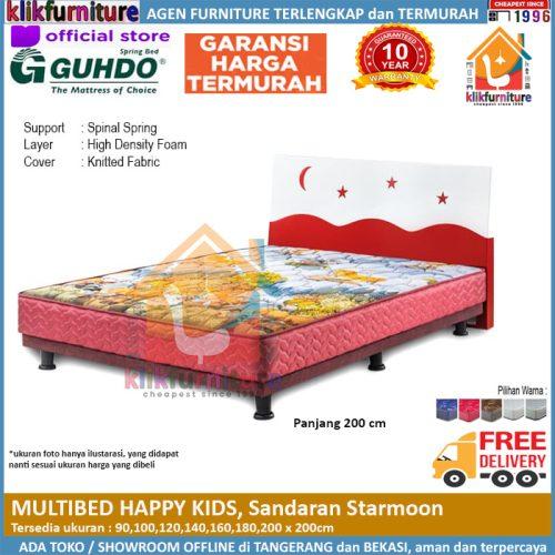 Multibed Happy Kids 2m Sandaran Starmoon Guhdo Springbed