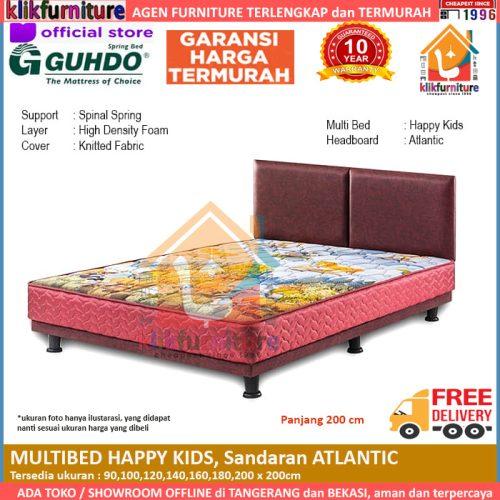 Multibed Happy Kids 2m Sandaran Atlantic Guhdo Springbed