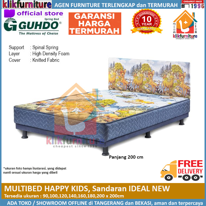 Multibed Happy Kids 2m Sandaran Ideal Guhdo Springbed