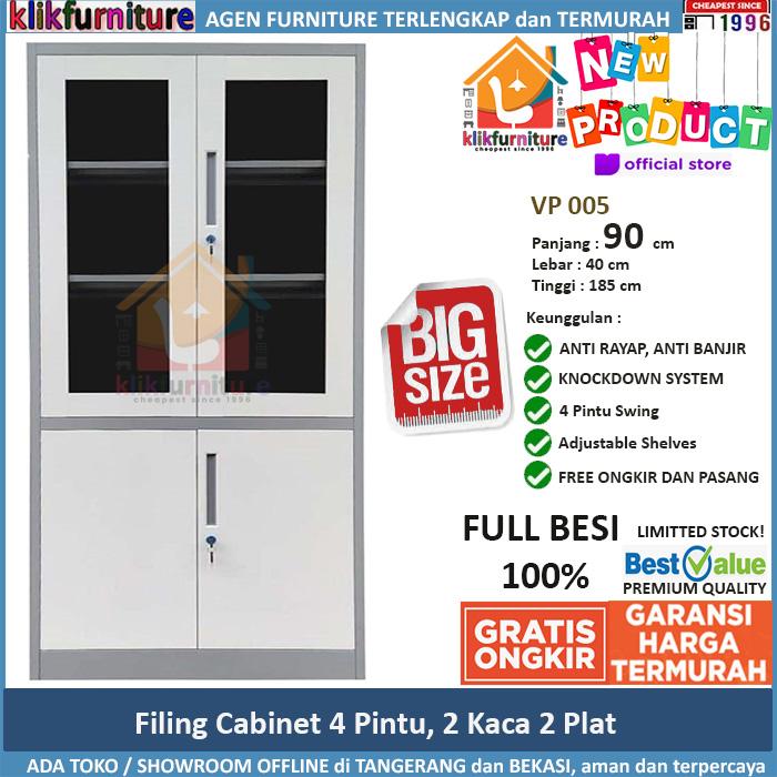 Lemari Arsip Besi Filing Cabinet Besi VP 005 Ukuran Besar 90cm